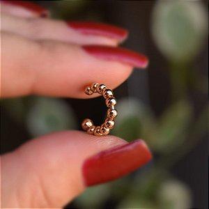 Piercing de encaixe individual esfera ouro semijoia