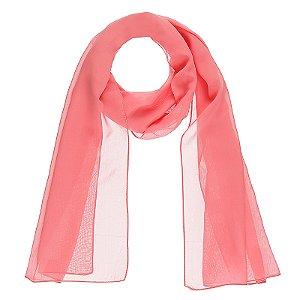 Lenço echarpe viscose rosa ref 032