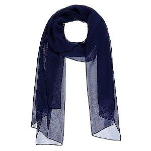 Lenço echarpe viscose azul marinho ref 051
