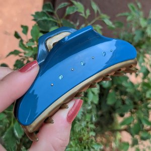 Piranha de cabelo francesa Finestra G azul e dourado strass F2841BD/6sBJ
