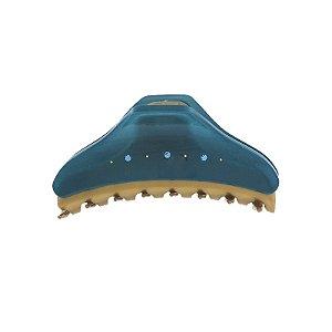 Piranha de cabelo francesa Finestra azul e dourado strass F2841BD/6sBJ