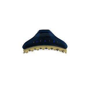Piranha de cabelo francesa Finestra azul navy e dourado strass F2842BD/4sNAVY