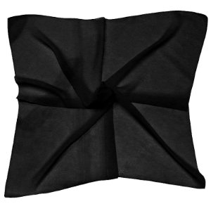 Lenço Quadrado liso preto