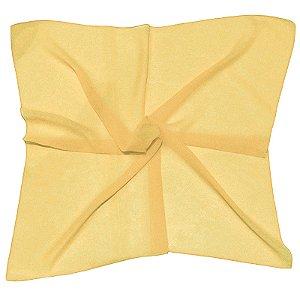 Lenço Quadrado liso amarelo claro