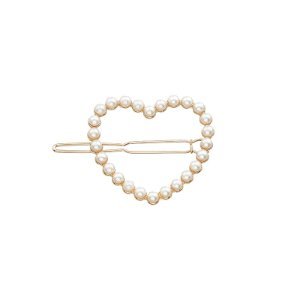 Presilha coração pérola dourado 19A06006