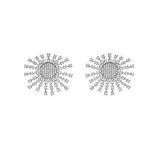 Brinco cometa zircônia ródio semijoia