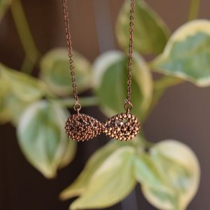 Colar infinito cobre semijoia