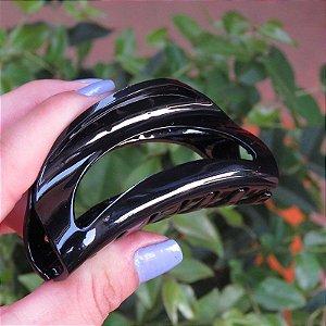 Piranha de cabelo francesa Finestra média preta F2808P