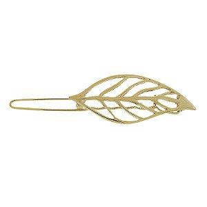 Presilha para franja folha dourado