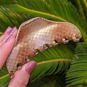 Piranha de cabelo francesa Finestra animal print N758DBG