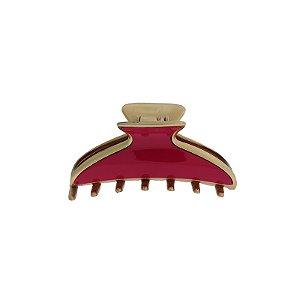 Piranha de cabelo francesa Finestra vermelho e dourado F4643PDV