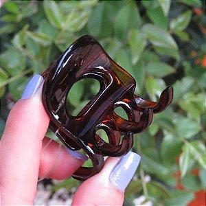 Piranha de cabelo francesa Finestra marrom N385