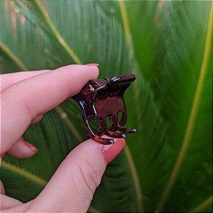 Piranha de cabelo francesa Finestra pequena marrom F4758