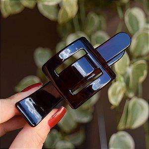 Presilha bico de pato Finestra marrom tartaruga F22935