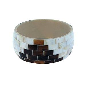 Bracelete madrepérola mosaico