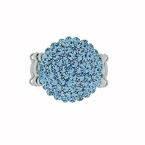 Anel Leticia Sarabia cristal azul claro