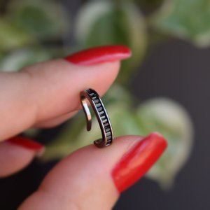 Piercing de encaixe individual  zircônia preto ródio negro semijoia