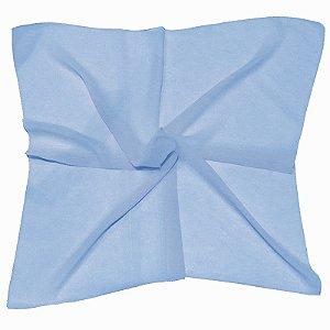 Lenço Quadrado liso azul