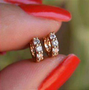 Brinco argolinha fina ouro segundo furo 9A03043