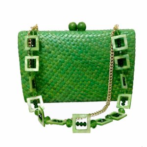 Clutch Serpui Marie palha verde