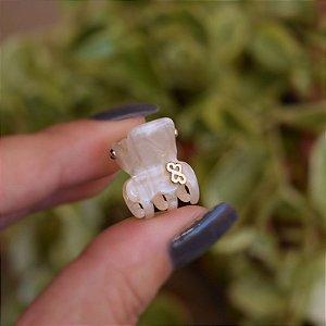 Piranha de cabelo mini Bianca madrepérola 05 156