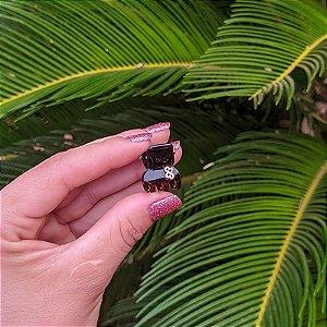Piranha de cabelo mini Bianca marrom 05 156
