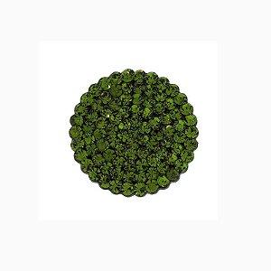 Anel ajustável redondo Camila Seidl cristal verde oliva