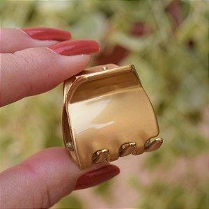 Piranha de cabelo francesa Finestra dourada N748