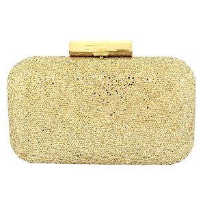 Clutch isla brilho ouro claro