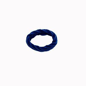 Elástico xuxa para cabelo azul royal