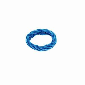Elástico xuxa para cabelo azul turquesa