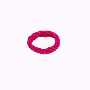 Elástico xuxa para cabelo pink neon