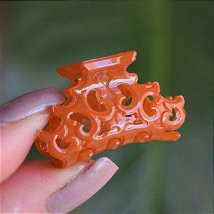Piranha de cabelo pequena francesa Finestra laranja queimado N457auvre