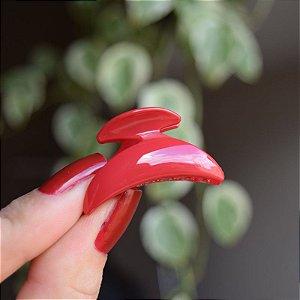 Piranha de cabelo pequena francesa Finestra vermelho N458Rouge