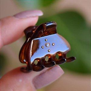 Piranha de cabelo francesa Finestra marrom strass N341/2s
