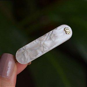 Presilha pequena acrílico Bianca madrepérola 16 065