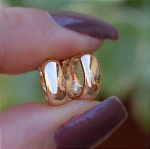 Brinco argolinha segundo furo ouro semijoia 17K03004