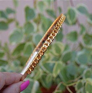 Tiara metal corrente dourado