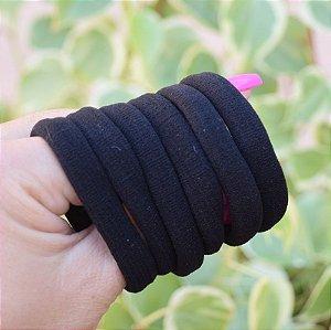 Elástico para cabelo preto 6 peças