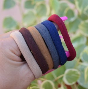 Elástico para cabelo coloridos 6 peças