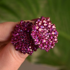 Brinco Leticia Sarabia médio cristal pink