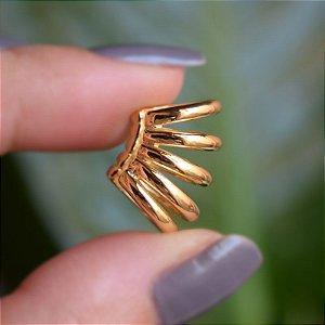 Piercing de encaixe indiviual 5 aros ouro semijoia