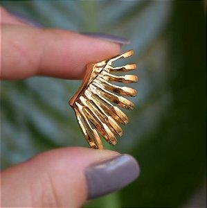 Piercing de encaixe individual aros ouro semijoia