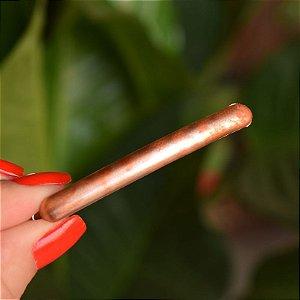 Mini presilha acrílico francesa Finestra tie dye laranja N220MC