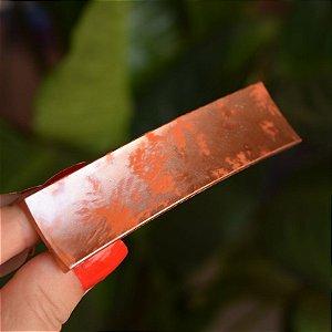 Presilha acrílico francesa Finestra retangular tie dye laranja F2821MC