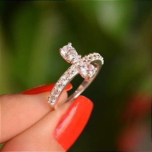 Anel prata 925 zircônia cristal