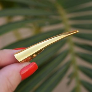 Presilha bico de pato metal dourado