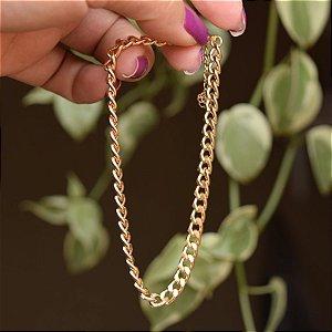 Tornozeleira corrente ouro semijoia