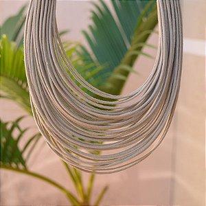 Colar Design Natural fios de algodão nude CO 1341