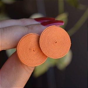 Brinco redondo Design Natural fios de algodão laranja BR 2046